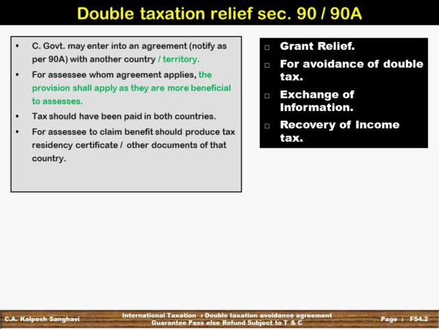 Practice Questions Ca Final Dt Dtaa Double Taxation Avoidance Agreement